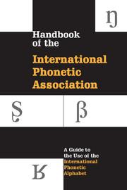 Handbook of the IPA   International Phonetic Association